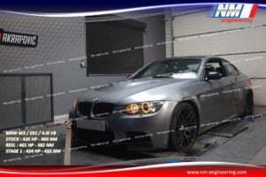 STAGE 1 BMW M3 E92 4.0i V8 420 CV 400 NM REEL 401 CV 382 NM 424 CV 433 NM NM Engineering
