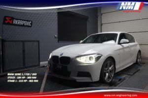STAGE 1 BMW SERIE 1 F20 20D 184 CV 380 NM 215 CV 463 NM NM Engineering