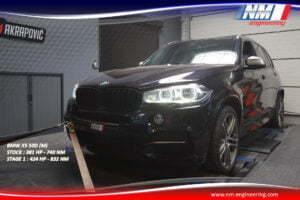 STAGE 1 BMW X5 50D M 381 CV 740 NM 424 CV 832 NM NM Engineering