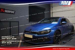 STAGE 1 ET CONVERSION E85 FLEX FUEL VW SCIROCCO 2.0 TSi 200 CV 280 NM 260 CV 365 NM NM Engineering