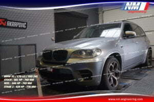 STAGE 2 BMW X5 E70 LCi 50D M 381 CV 740 NM REEL 344 CV 743 NM 429 CV 778 NM NM Engineering